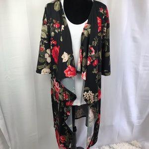 Lularoe Shirley Kimono floral maxi material